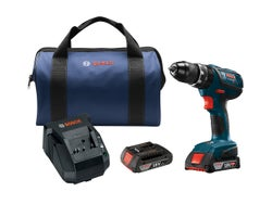 18 V Compact Tough 1/2 in. Hammer Drill Driver Kit, SlimPack batteries