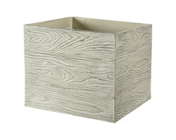 Wood Effect Flower Pot 11-1/2 in.