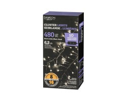 Guirlande de 480 lumières DEL Blanc chaud