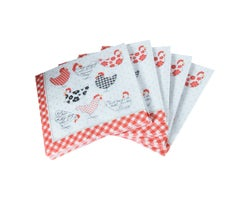 Serviettes de table Poules  (Paquet de 20)