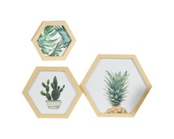 Wall Decoration Tropical Flowers (Set of 3)
