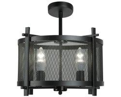 Semi-plafonnier Blad 4 lumières