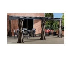 Pompano Wall-Mounted Sun Shelter 12 ft. x 16 ft.