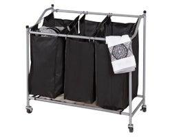 3-Section Laundry Basket