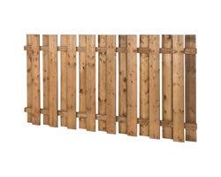 Clôture en bois traité brun carrée 4 pi x 8 pi