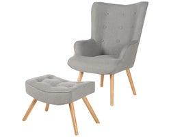 Scandy Accent Armchair & Footrest