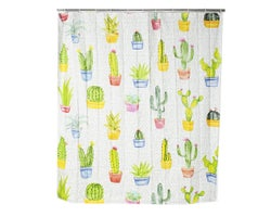 Rideau de douche Cactus