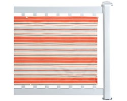 Balcony Privacy Screen Orange and Grey 30 in. x 16 ft.