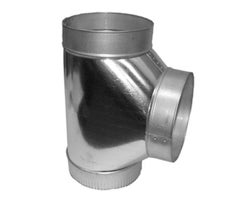 Galvanized Tee connector , 6 in. x 6 in. x 6 in.