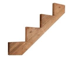 Brown Treated Wood Stair Stringer 4-Step