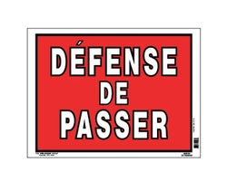 No Trespass Sign 12 in. x 16 in.