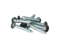 Black Lag Screw 1/4 in. x 1-1/2 in. (8-Pack)