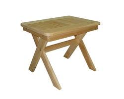 Table utilitaire en cèdre , 22 po x 17 1/2 po
