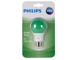 Ampoule DEL A19 8 W Vert