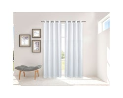 Spring Grommet Curtains 54 in. x 84 in. (2-Pack)