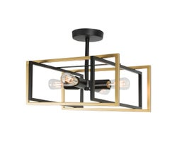Caza 4-Light Semi-Flush Mount