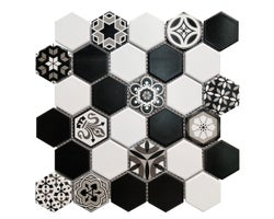 Hexa Lohry Wall Ceramic 10-5/8 in. x 11 in.