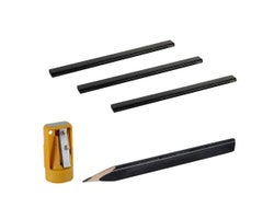 Ensemble de 4 crayons de menuisier et aiguise-crayon