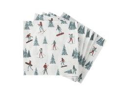 Serviettes de table Skieurs (Paquetde20)