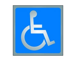 Wheelchair Sign 3-1/2 in. x 3-1/2 in.