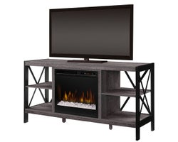 Ramona Media Console with, Electric Fireplace , 1500 W, Crystals