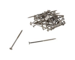Stainless Steel Treated Wood Screws 3 in. #8 (100-pack)