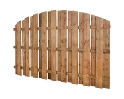 Half-Moon Brown Treated Wood Fence 5 ft. X 8 ft.