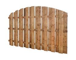 Clôture en bois traité brun demi-lune 5 pi x 8 pi