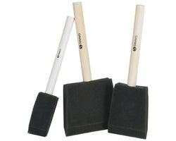 Set of 3 Foam Brushes