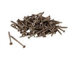 Brown Treated Wood Screws 2-1/2 in. #8 F.H. (100-Pack)
