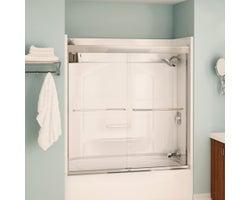 Aura Bathtub Door 55 in. (Clear glass)
