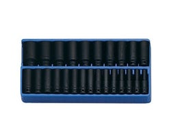 25-Piece 1/2 in. Drive Metric Deep Impact Socket Set