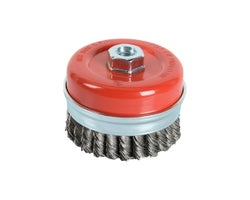 Grinder Knotted Wire Cup Brush 3 in.