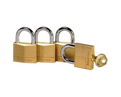 Identical Padlocks 1-9/16 in. (4-Pack)