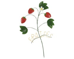Strawberries Decorative Stake 31-1/2 in.