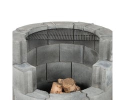 Concrete Block Fireplace Cooking Grid