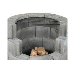 Grille de cuisson pour foyer en blocs de béton