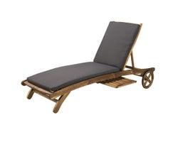 Chaise longue avec dossier ajustable
