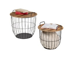 Ensemble de 2 tables d'appoint Panier