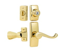 Storm and Screen Door GL Lever Set with Keyed Deadbolt