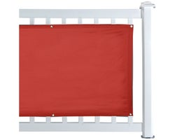 Red Balcony Privacy Screen 30 in. x 16 ft.