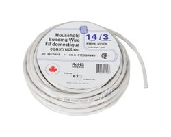 Interior Electrical Wire NMD-90, 14/3 White 20 m