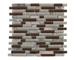 Myrtille Glass & Marble Mosaic 12 in. x 12 in.