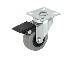2 in. Polyurethane Swivel Caster with Brake