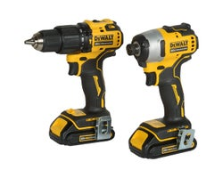 20 V Lithium-Ion Hammer Drill & Impact Driver Combo Set