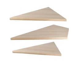 Birch Angled Stair Treads, 3-Pc