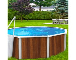 Above-Ground Pool Insulation Walnut Brown 24 ft.