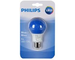 Ampoule DEL A19 8 W Bleu