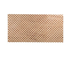 Reinforced Treated Wood  Privacy Lattice Brown 4 ft. x 8 ft.