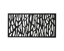 PVC Black Sprig Panel 2 ft. x 4 ft.